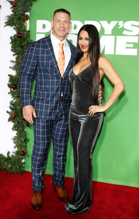John Cena and Nikki Bella at the Los Angeles premiere of Daddys Home 2 held at the Regency Village Theatre in Westwood, USA on November 5, 2017.