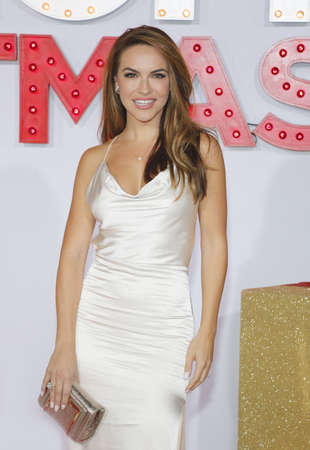 Chrishell Stause at the Los Angeles premiere of A Bad Moms Christmas held at the Regency Village Theatre in Westwood, USA on October 30, 2017.