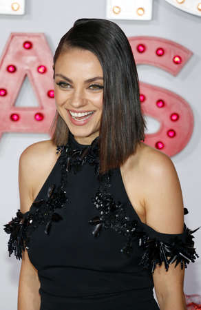 Mila Kunis at the Los Angeles premiere of A Bad Moms Christmas held at the Regency Village Theatre in Westwood, USA on October 30, 2017.