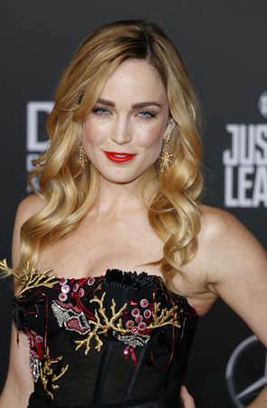 Caity Lotz at the World premiere of Justice League held at the Dolby Theatre in Hollywood, USA on November 13, 2017.