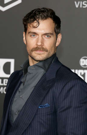 Henry Cavill at the World premiere of 'Justice League' held at the Dolby Theatre in Hollywood, USA on November 13, 2017. Editorial
