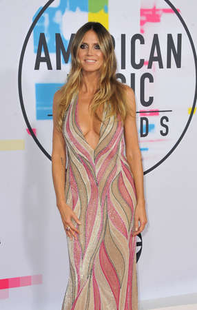 Heidi Klum at the 2017 American Music Awards held at the Microsoft Theater in Los Angeles, USA on November 19, 2017.