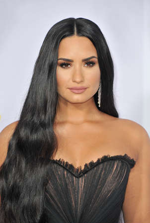 Demi Lovato at the 2017 American Music Awards held at the Microsoft Theater in Los Angeles, USA on November 19, 2017. Editorial