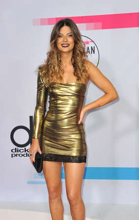 Hannah Stocking at the 2017 American Music Awards held at the Microsoft Theater in Los Angeles, USA on November 19, 2017.