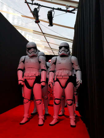 Star Wars: The Last Jedi World premiere at the Shrine Auditorium in CA, USA on December 9, 2017. Фото со стока