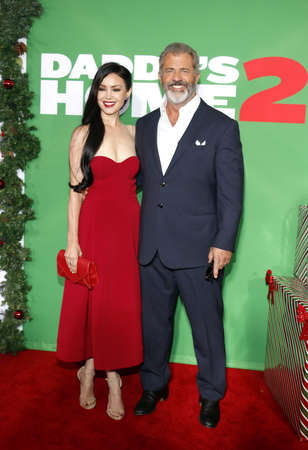 Mel Gibson and Rosalind Ross at the Los Angeles premiere of 'Daddy's Home 2' held at the Regency Village Theatre in Westwood, USA on November 5, 2017. Editorial