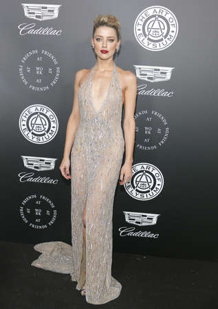 Amber Heard at the Art Of Elysium's 11th Annual Heaven Celebration held at the Barker Hangar in Santa Monica, USA on January 6, 2018. Editorial