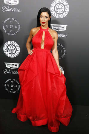 Natalie Eva Marie at the Art Of Elysiums 11th Annual Heaven Celebration held at the Barker Hangar in Santa Monica, USA on January 6, 2018. Editorial