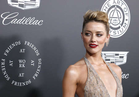 Amber Heard at the Art Of Elysium's 11th Annual Heaven Celebration held at the Barker Hangar in Santa Monica, USA on January 6, 2018. 報道画像