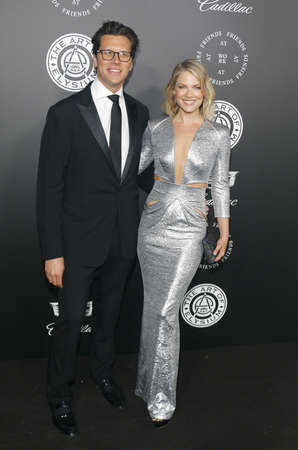 Ali Larter and Hayes MacArthur at the Art Of Elysiums 11th Annual Heaven Celebration held at the Barker Hangar in Santa Monica, USA on January 6, 2018.