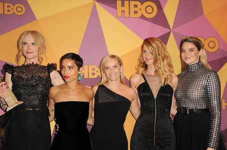 Zoe Kravitz, Reese Witherspoon, Laura Dern, Shailene Woodley and Nicole Kidman at the HBOs 2018 Official Golden Globe Awards After Party held at the Circa 55 Restaurant in Beverly Hills, USA on January 7, 2018. Editorial