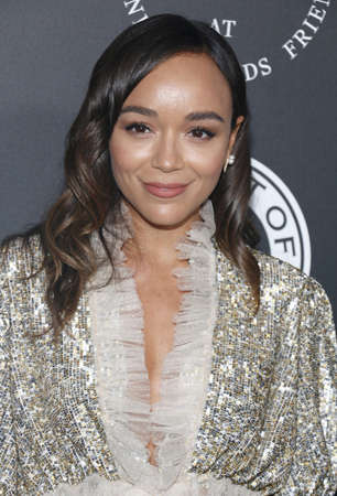 Ashley Madekwe at the Art Of Elysiums 11th Annual Heaven Celebration held at the Barker Hangar in Santa Monica, USA on January 6, 2018.