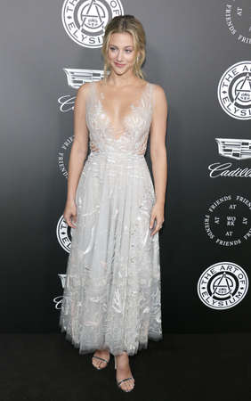 Lili Reinhart at the Art Of Elysiums 11th Annual Heaven Celebration held at the Barker Hangar in Santa Monica, USA on January 6, 2018. Editorial