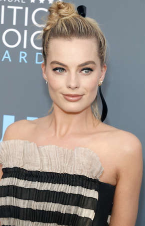 Margot Robbie at the 23rd Annual Critics Choice Awards held at the Barker Hangar in Santa Monica, USA on January 11, 2018.