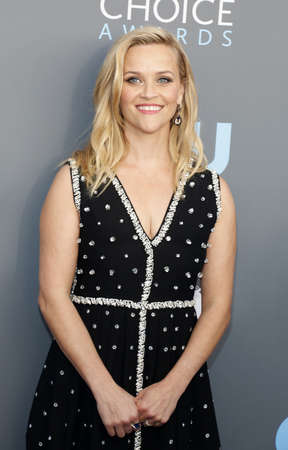 Reese Witherspoon at the 23rd Annual Critics Choice Awards held at the Barker Hangar in Santa Monica, USA on January 11, 2018.