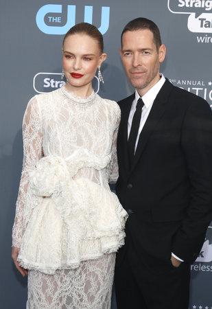 Kate Bosworth and Michael Polish at the 23rd Annual Critics Choice Awards held at the Barker Hangar in Santa Monica, USA on January 11, 2018. Editorial