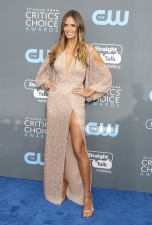 Heidi Klum at the 23rd Annual Critics Choice Awards held at the Barker Hangar in Santa Monica, USA on January 11, 2018. Editorial