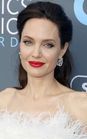 Angelina Jolie at the 23rd Annual Critics Choice Awards held at the Barker Hangar in Santa Monica, USA on January 11, 2018.