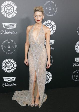Amber Heard at the Art Of Elysium's 11th Annual Heaven Celebration held at the Barker Hangar in Santa Monica, USA on January 6, 2018. Editoriali