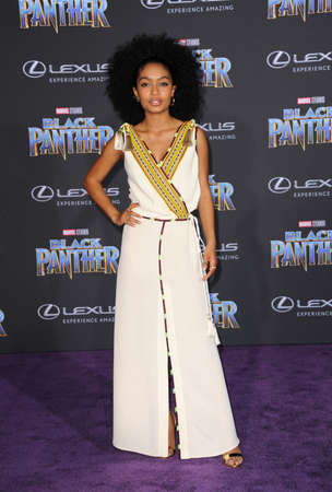 Yara Shahidi at the World premiere of Marvels Black Panther held at the El Capitan Theatre in Hollywood, USA on January 29, 2018.