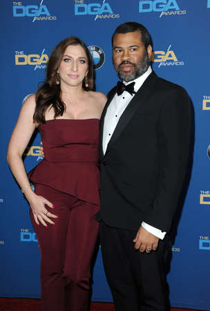 Jordan Peele and Chelsea Peretti at the 70th Annual Directors Guild Of America Awards held at the Beverly Hilton Hotel in Beverly Hills, USA on February 3, 2018.