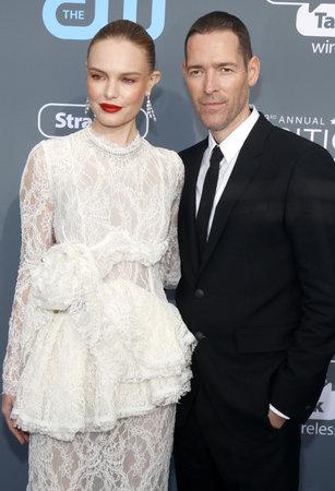 Michael Polish and Kate Bosworth at the 23rd Annual Critics Choice Awards held at the Barker Hangar in Santa Monica, USA on January 11, 2018.