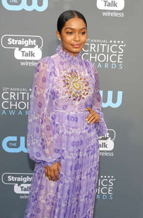 Yara Shahidi at the 23rd Annual Critics Choice Awards held at the Barker Hangar in Santa Monica, USA on January 11, 2018.