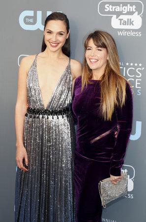 Patty Jenkins and Gal Gadot at the 23rd Annual Critics Choice Awards held at the Barker Hangar in Santa Monica, USA on January 11, 2018.