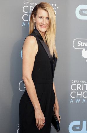 Laura Dern at the 23rd Annual Critics Choice Awards held at the Barker Hangar in Santa Monica, USA on January 11, 2018. Editorial