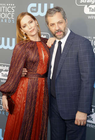 Judd Apatow and Leslie Mann at the 23rd Annual Critics Choice Awards held at the Barker Hangar in Santa Monica, USA on January 11, 2018. Editorial