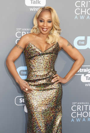 Mary J. Blige at the 23rd Annual Critics Choice Awards held at the Barker Hangar in Santa Monica, USA on January 11, 2018. Editorial