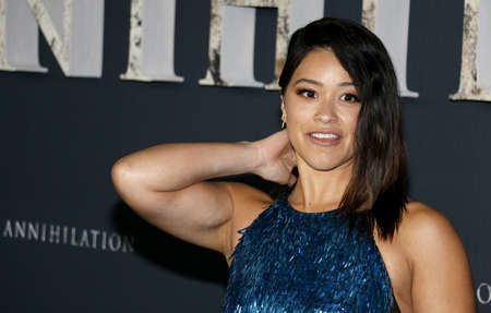 Gina Rodriguez at the Los Angeles premiere of Annihilation held at the Regency Village Theater in Westwood, USA on February 13, 2018. Editöryel