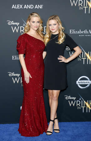 Reese Witherspoon and Ava Phillippe at the Los Angeles premiere of A Wrinkle In Time held at the El Capitan Theater in Hollywood, USA on February 26, 2018.