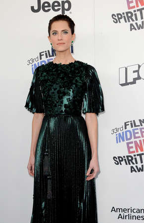 Allison Williams at the 2018 Film Independent Spirit Awards held at Santa Monica Beach, USA on March 3, 2018. 新聞圖片
