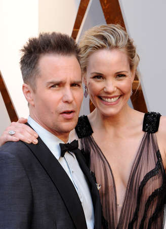 Leslie Bibb and Sam Rockwell at the 90th Annual Academy Awards held at the Dolby Theatre in Hollywood, USA on March 4, 2018. Editorial
