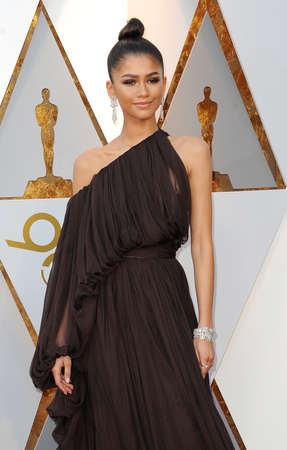 Zendaya at the 90th Annual Academy Awards held at the Dolby Theatre in Hollywood, USA on March 4, 2018. Editorial