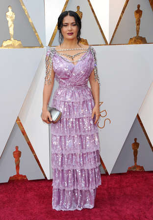 Salma Hayek at the 90th Annual Academy Awards held at the Dolby Theatre in Hollywood, USA on March 4, 2018.