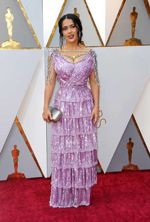 Salma Hayek at the 90th Annual Academy Awards held at the Dolby Theatre in Hollywood, USA on March 4, 2018. Stock Photo - 97090455