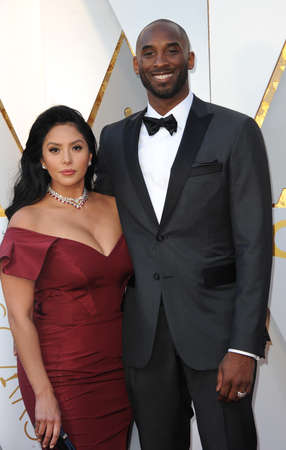 Kobe Bryant and Vanessa Bryant at the 90th Annual Academy Awards held at the Dolby Theatre in Hollywood, USA on March 4, 2018. Stock Photo - 97090464