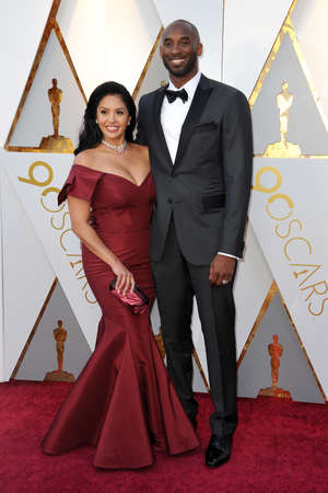 Kobe Bryant and Vanessa Bryant at the 90th Annual Academy Awards held at the Dolby Theatre in Hollywood, USA on March 4, 2018. Editorial