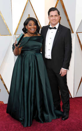 Octavia Spencer and Tate Taylor at the 90th Annual Academy Awards held at the Dolby Theatre in Hollywood, USA on March 4, 2018. Editorial