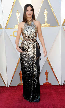 Sandra Bullock at the 90th Annual Academy Awards held at the Dolby Theatre in Hollywood, USA on March 4, 2018. Stock Photo - 97090489