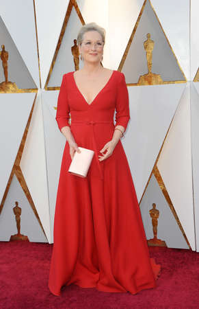 Meryl Streep at the 90th Annual Academy Awards held at the Dolby Theatre in Hollywood, USA on March 4, 2018. Editorial