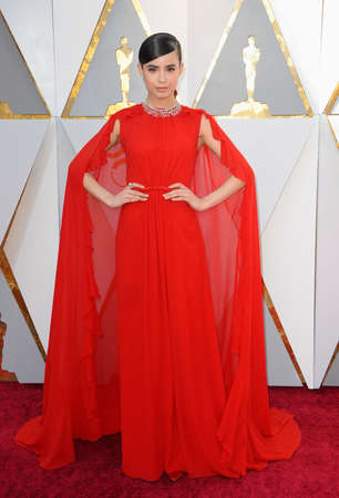 Sofia Carson at the 90th Annual Academy Awards held at the Dolby Theatre in Hollywood, USA on March 4, 2018. Editorial