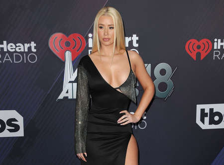 Iggy Azalea at the 2018 iHeartRadio Music Awards held at the Forum in Inglewood, USA on March 11, 2018. 報道画像
