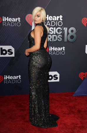 Bebe Rexha at the 2018 iHeartRadio Music Awards held at the Forum in Inglewood, USA on March 11, 2018.