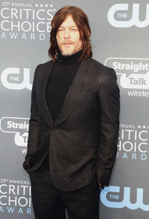 Norman Reedus at the 23rd Annual Critics' Choice Awards held at the Barker Hangar in Santa Monica, USA on January 11, 2018. Éditoriale