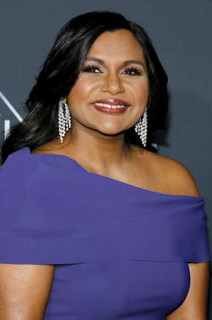 Mindy Kaling at the Los Angeles premiere of A Wrinkle In Time held at the El Capitan Theater in Hollywood, USA on February 26, 2018. 報道画像