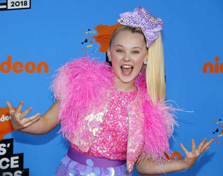 Jojo Siwa at the Nickelodeons 2018 Kids Choice Awards held at the Forum in Inglewood, USA on March 24, 2018.