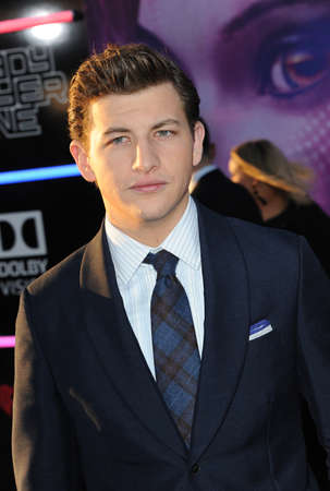 Tye Sheridan at the Los Angeles premiere of 'Ready Player One' held at the Dolby Theatre in Hollywood, USA on March 26, 2018. Editorial